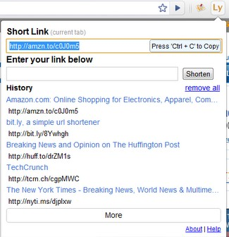 linky url shortener