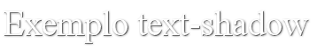 text-shadow-exemplo-dois