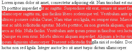 exemplo css selection