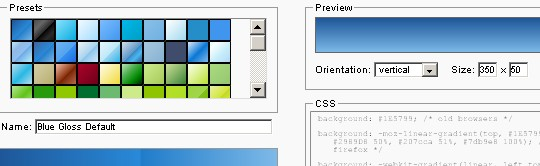 Gerador de gradiente CSS3 online
