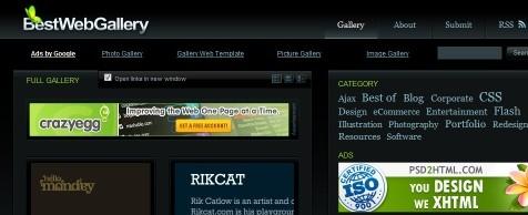 Galeria de Inspiração para Web Designers