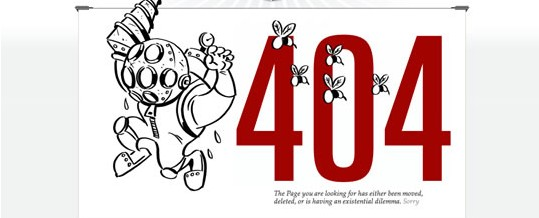 exemplos páginas de erro 404