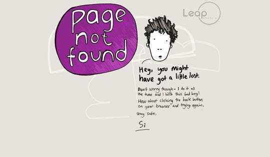 Páginas de erro 404 criativas