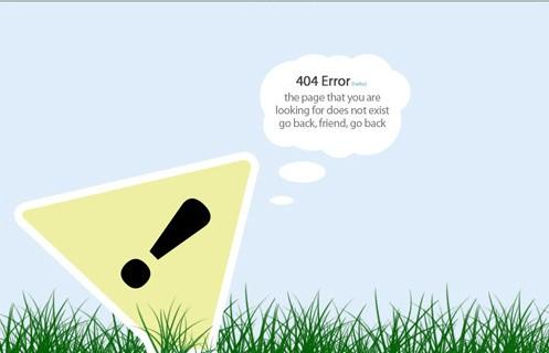 Páginas criativas de erro 404