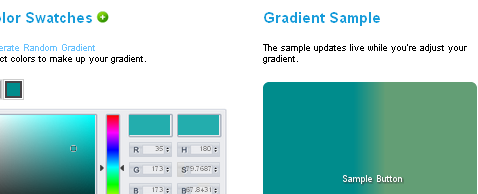 Ferramentas CSS3 Gradients