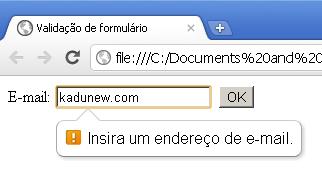Validaçao email