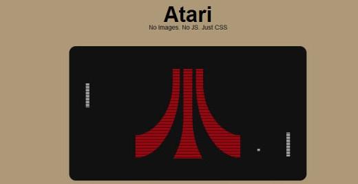 Exemplo logo Atari com CSS3