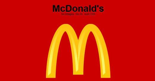Exemplo logo mcdonalds com CSS3