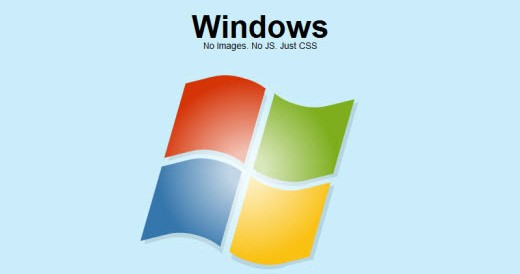 Exemplo logo Windows com CSS3