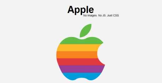 Exemplo logo Apple com CSS3