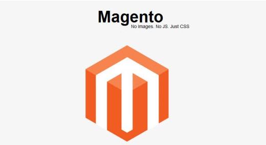 Exemplo logo Magento com CSS3