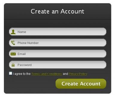 formulário html5 e CSS3