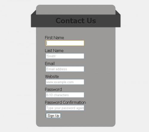 Formulário html5