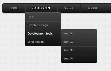 Exemplo menu CSS