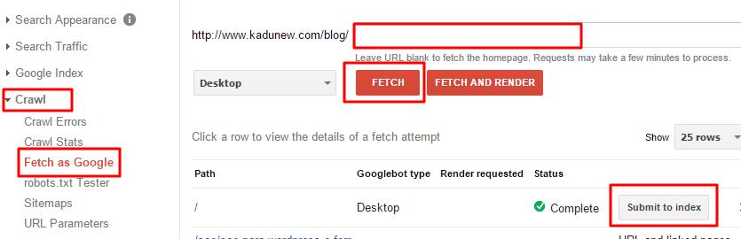 Pedindo ao Google para indexar nosso site