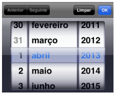 Exemplo input date Iphone